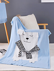 KnittedSolid Cartoon 100% Cotton Blankets