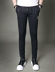 Homme simple Taille Normale strenchy Mince Pantalon,Mince arbres/Feuilles