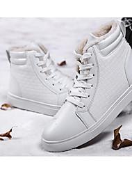 Da uomo Sneakers Comoda pattini delle coppie Di corda PU (Poliuretano) Primavera Casual Bianco Nero Rosso Piatto