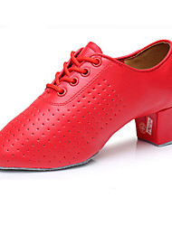 Men's Latin Leatherette Heels Performance Low Heel Ruby Customizable