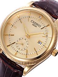 CHENXI® Men's Dress Watch Fashion Watch Japanese Quartz Calendar Leather Band Cool Casual Black Brown