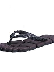 Masculino Chinelos e flip-flops Caminhada Solados com Luzes par sapatos Materiais Customizados Primavera Verão CasualPreto Marron