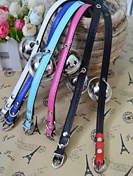 Pet Bells Collars Adorable Pets Bells Dogs Cats PU Necklaces necklace