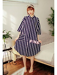 Women's Chemises & Gowns Nightwear Stripe-Thin