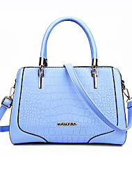 Women Shoulder Bag PU All Seasons Wedding Casual School Date Rectangle Zipper Light Blue Navy Blue Red Black White
