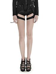PUNK RAVE K-252 Women's Punk girl shooter short Shorts Street chic Sexy Punk Gothic Pants Summer Latest Fashion Sexy Women Vintage Leather Pants