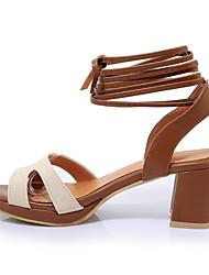 Damen Sandalen Leuchtende Sohlen Komfort Knöchelriemen Echtes Leder Sommer Normal Kleid Leuchtende Sohlen Komfort Knöchelriemen