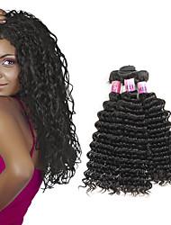 Brazilian Remy Deep Wave Virgin Hair 100% Unprocessed Brazilian Deep Curly Virgin Hair Fast Shipping 3pcs/Lot 300g