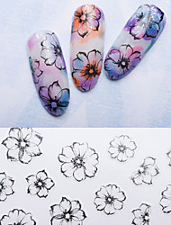 Large Size Ultrathin 3D Fashion Flower Nail Sticker