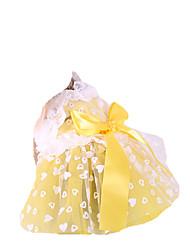 Cachorro Vestidos Roupas para Cães Casual Princesa Amarelo