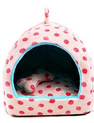 Кошка Собака Кровати Животные Одеяла В горошек Компактность Дышащий Бежевый Розовый Светло-синий