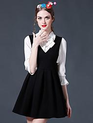 Feminino Camisa Calça Conjuntos Simples Sofisticado Primavera Verão Colarinho Chinês