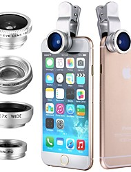 Clip 4in1 180 Fish Eye Wide angle  Micro Telephoto Lens for itouch ipad iPhone Samsung HTC