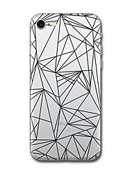For iPhone X iPhone 8 Case Cover Pattern Back Cover Case Tile Geometric Pattern Soft TPU for Apple iPhone X iPhone 8 Plus iPhone 8 iPhone