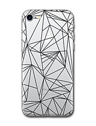 Para iPhone X iPhone 8 Carcasa Funda Diseños Cubierta Trasera Funda Azulejo Diseño Geométrico Suave TPU para Apple iPhone X iPhone 8 Plus