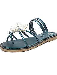 Women's Slippers & Flip-Flops Slingback Toe Ring Comfort Ankle Strap Light Soles Summer Fall Dress Casual Walking AppliqueLow