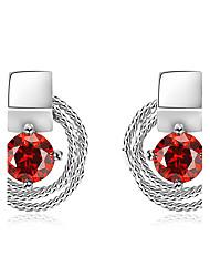 Women's Stud Earrings Unique Design Euramerican Fashion Jewelry Luxury Adorable Classic Elegant Copper Platinum Plated Eco-friendly Material