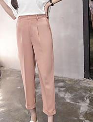 Women's Mid Rise strenchy Harem Pants,Vintage Harem Solid