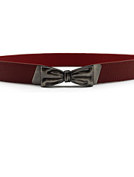 Feminino Vestido Belt Liga Tecido Outros Metálico Brilhante Laço Fashion Fino,Sólido