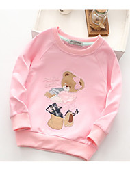 Animal Tee,Cotton Spring Fall Long Sleeve Regular