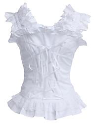 Corpete Lolita Clássica e Tradicional Acessórios Lolita Blusa Para Algodão