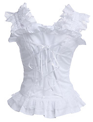 Sleeveless White Cotton Classic Lolita Corset