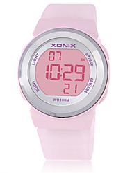 Жен. Детские Спортивные часы Смарт-часы Цифровой Защита от влаги Фосфоресцирующий Pезина Группа Белый Синий Коричневый Фиолетовый