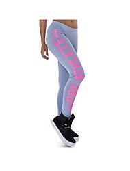 Per donna Pantaloni da corsa Pantaloni per Esercizi di fitness Terylene Taglia piccola Bianco Nero Fucsia Argenteo Grigio M L XL XXL XXXL