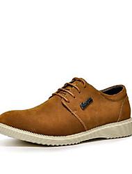 Men's Oxfords Comfort Suede Nappa Leather Cowhide Spring Casual Comfort Brown Navy Blue Dark Grey Flat