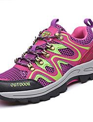 Для женщин Спортивная обувь Удобная обувь Полиуретан Весна Осень Для прогулок Шнуровка На плоской подошве Лиловый На плоской подошве