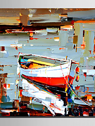 Mini Size E-HOME Oil painting Modern Dappled Boats Pure Hand Draw Frameless Decorative Painting