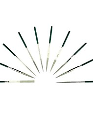 Sata 10 Sets Of Plastic 4X160Mm/1 Diamond File Set