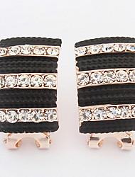 The European and American fashion horizontal stripes earrings