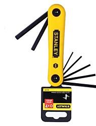 Stanley métrique pliant intérieur six angle clé 1.5-6mm 7 pièce set / 1 set