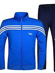 Men's Long Sleeve Running Tracksuit Windproof Spring Fall/Autumn Sports Wear Running Polyester