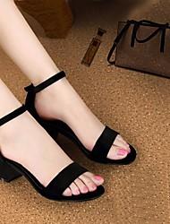 Damen Sandalen PU Frühling Schwarz Beige 5 - 7 cm