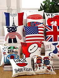 Creative National Flag Pillow Case 9 Design Cotton/Linen Pillow Covers