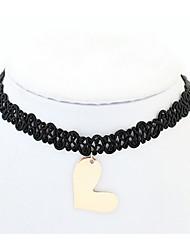 Damen Halsketten Schmuck Herzform Kupfer AleaciónBasis Einzigartiges Design Freundschaft Elegant bezaubernd individualisiert Rock
