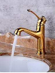 MittellageKeramisches VentilGolden , Waschbecken Wasserhahn