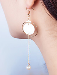 Women's Drop Earrings Jewelry Dangling Style Shell Alloy Circle Jewelry For Wedding Party Special Occasion Anniversary Birthday