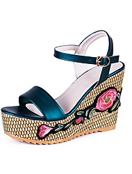 Women's Sandals Embroidery Vintage Fashion Boho Style Grace Spring Summer Casual Outdoor Comfort Buckle Wedge Heel