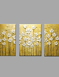 Hand Painted Modern Abstract Art Flower Oil Paintings On Canvas With Stretched Frame Ready To Hang