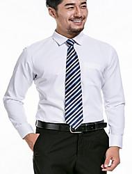 Herren Solide Einfach Hemd,V-Ausschnitt Langarm Baumwolle