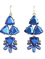 Серьги-слезки Имитация Sapphire Стразы Уникальный дизайн В виде подвески Мода Богемия Стиль Euramerican СплавВ форме цветка