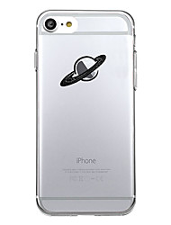 Para iPhone X iPhone 8 Carcasa Funda Diseños Cubierta Trasera Funda Logo Playing With Apple Caricatura Suave TPU para Apple iPhone X