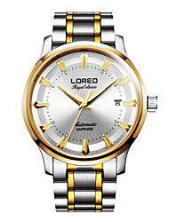 Men's Fashion Watch Mechanical Watch Automatic self-winding Water Resistant / Water Proof Stainless Steel Band Silver