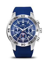 Men's Sport Watch Fashion Watch Quartz Calendar Water Resistant / Water Proof Silicone Band Blue Orange
