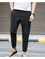 Men's Low Rise strenchy Taper Pants,Boho Street chic Trumpet/Mermaid Cut Out Color Block