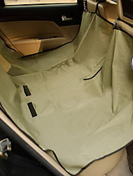 Dog Car Seat Cover Pet Baskets Solid Portable Foldable Green Beige Black