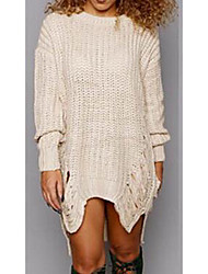 AliExpress explosion models Amazon knitted sweaters and long sections sweater hole